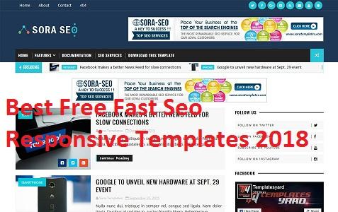 डाउनलोड फ्री ब्लॉगर टेम्पलेट, सुपर फास्ट स्पीड ब्लॉगर टेम्पलेट, Best Free Fast Seo Responsive Templates 2018