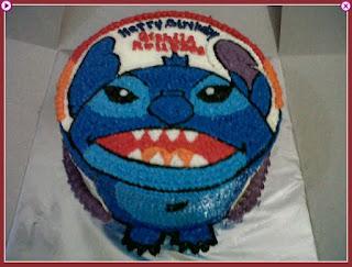 gambar kue ultah stitch dan harga