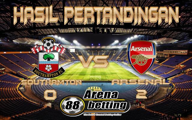 HASIL PERTANDINGAN SOUTHAMTON vs ARSENAL SKOR 0-2