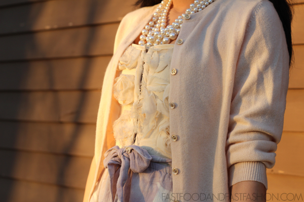 Casual Outfit : Rosettes and Lavender