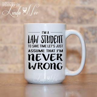 I'm a Law Student coffee mug | brazenandbrunette.com
