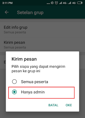 Cara Agar Hanya Admin yang Dapat Mengirim Pesan ke Grup Whatsapp