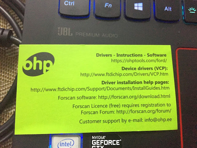 Supratim Sanyal's Blog: ohp ELMconfig OBD2 scanner USB adapter information card