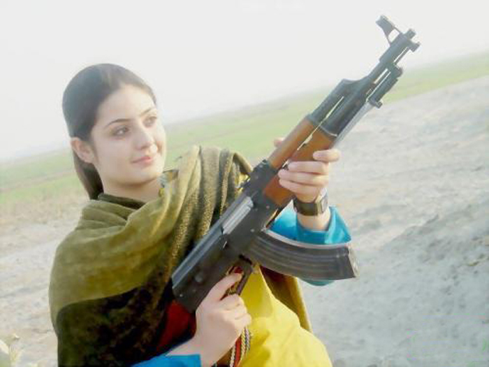 Image result for beautiful girl of kashmir with weapon