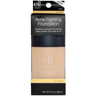 كريم اساس يستخدم كمياج وعلاج لحب الشباب من اي هيرب E.L.F. Cosmetics, Acne Fighting Foundation Porcelain , 1.21 fl oz (36 ml)