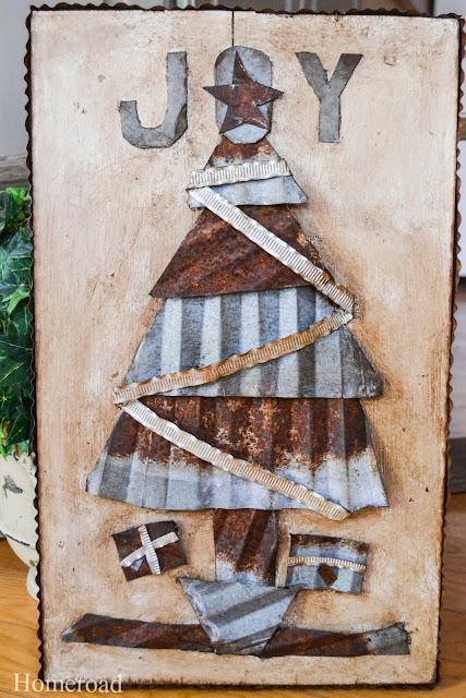 rusty, galvanized Christmas Picture www.homeroad.net