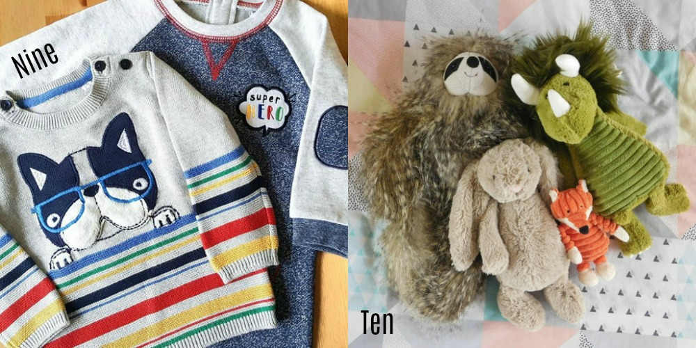 TU Baby clothes & Jellycat soft toys
