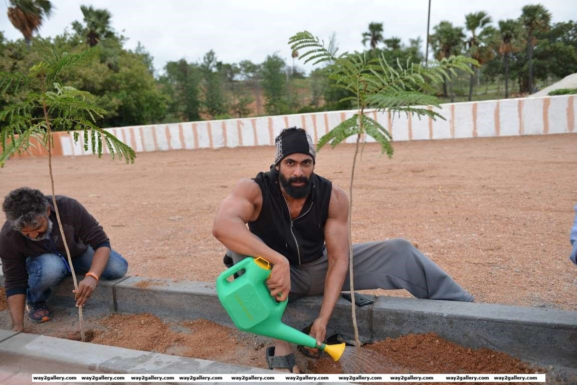 Rana Daggubati posted on Twitter Good Morning This is how my day began Tree plantation in Nanakramguda Make urs as green HarithaHaram