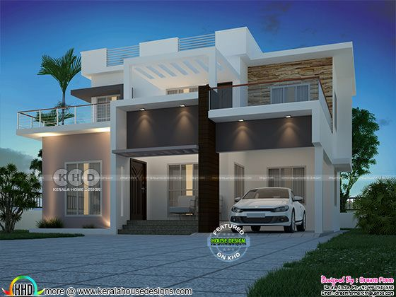 1580 square feet 3 bedroom modern home plan