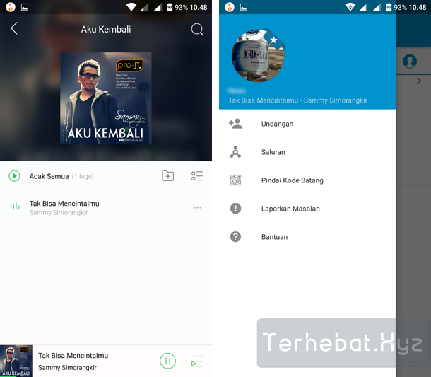 aplikasi pemutar musik yang connect bbm