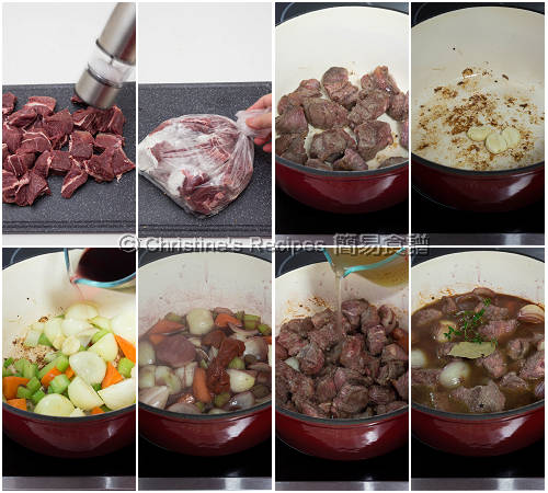 Beef Cheek Stew with Red Wine  Procedures