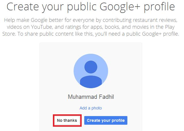 pengaturan google+