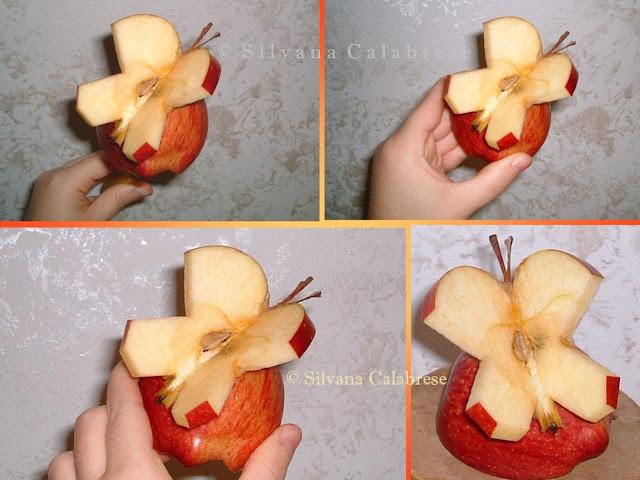 Intagli frutta e verdura Mela farfalla Silvana Calabrese - Blog