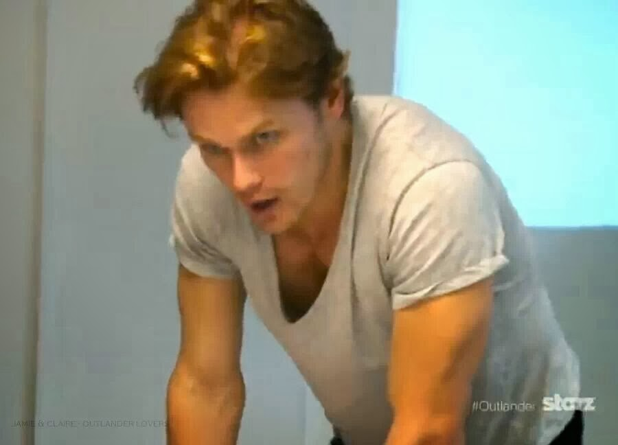 The Outlander TV Series: Sam Heughan with ginger hair!
