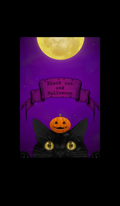 Black cat and Halloween