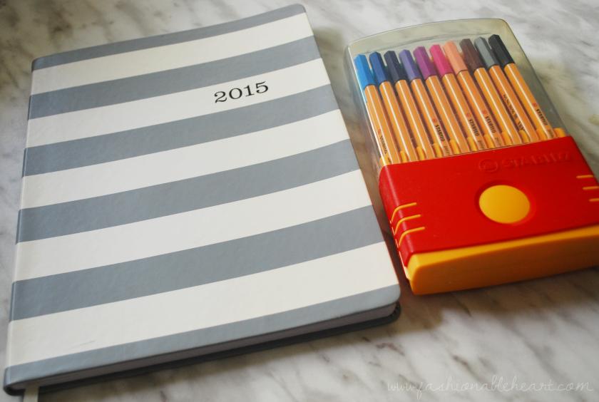 2015 eccolo planner agenda organizer stabilo pens