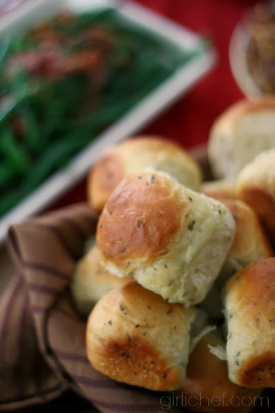Buttery Herb Pull-Apart Rolls