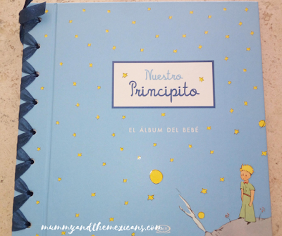 Baby Album Front Cover With The Theme Of The Little Prince
