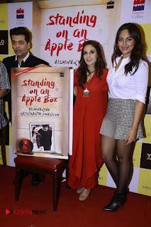Sonakshi Sinha Karan Johar at Aishwarya Rajinikanth Standing on an Apple Box Book Launch Event  0009.jpg