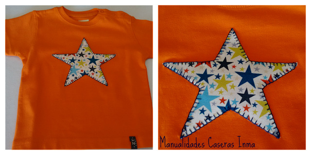 Manualidades Caseras Inma Camiseta naranja  de niño