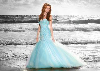modelo de vestido de noiva azul - dicas e fotos