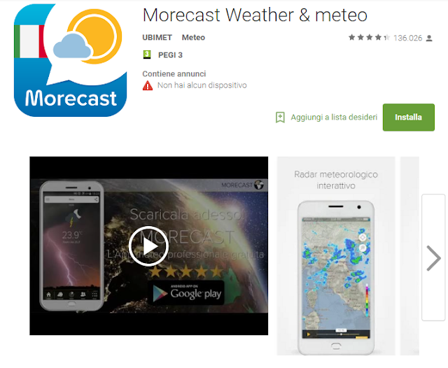 Morecast Weather & meteo scree-shot
