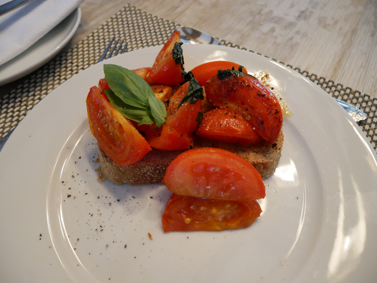 Sauteed tomatoes at Swan House B&B, Hastings