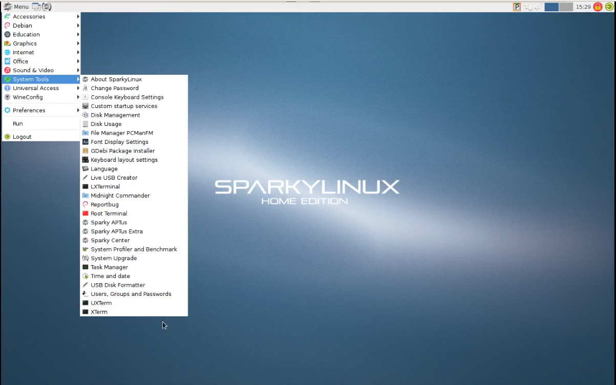 شرح تثبيت توزيعة sparkylinux-LXDE - Linuxvswindows