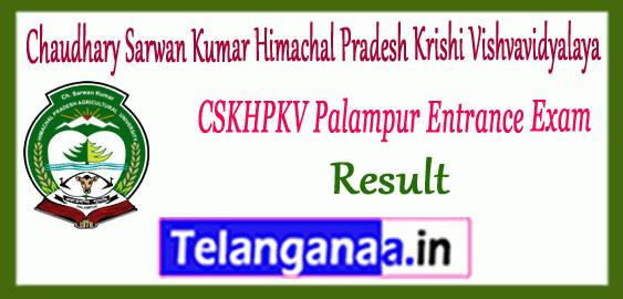 Chaudhary Sarwan Kumar Himachal Pradesh Krishi Vishvavidyalaya Palampur Entrance 1st 2nd 3rd Merit List Result
