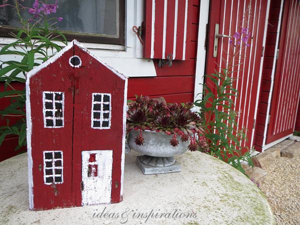 Selbstgemachte Gartendeko aus Holz