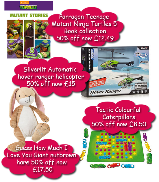 50% off toy sale at Debenhams