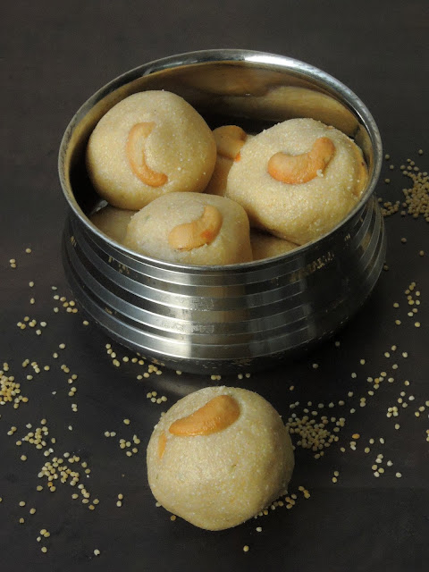 Barnyard Millet Sweet Balls, Thinai Laddoo