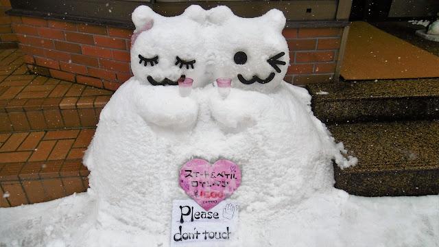 北海道 小樽市の雪だるま