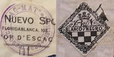 Emblemas de los Clubs de Ajedrez Xac-Mat y Blanco y Negro