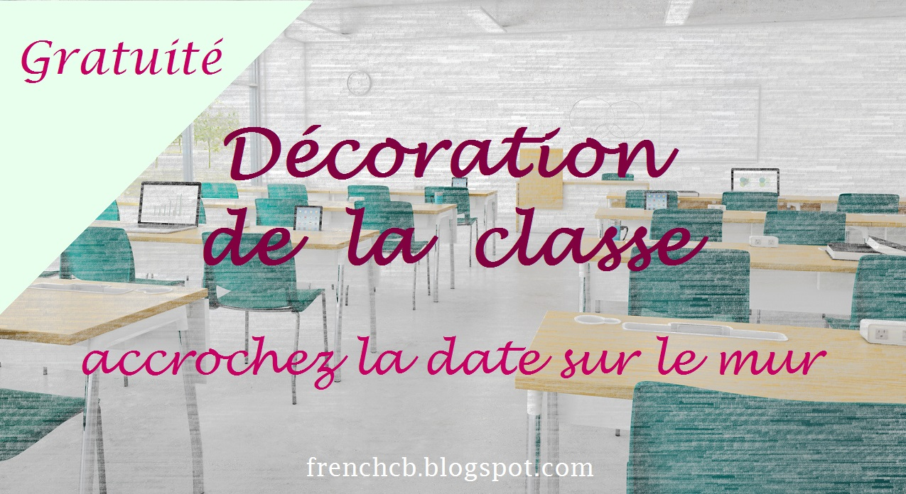 Faire Un Mur De Photos Décoration décoration de la classe - accrochez la date sur le mur pour
