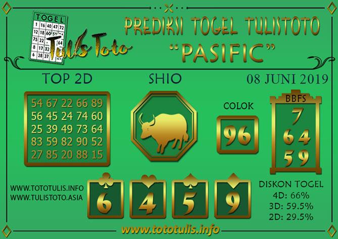 Prediksi Togel PASIFIC TULISTOTO 08 JUNI 2019