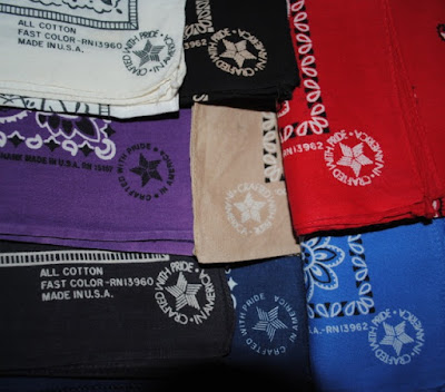 Crafted With Pride, Made in America logo on Bandanas