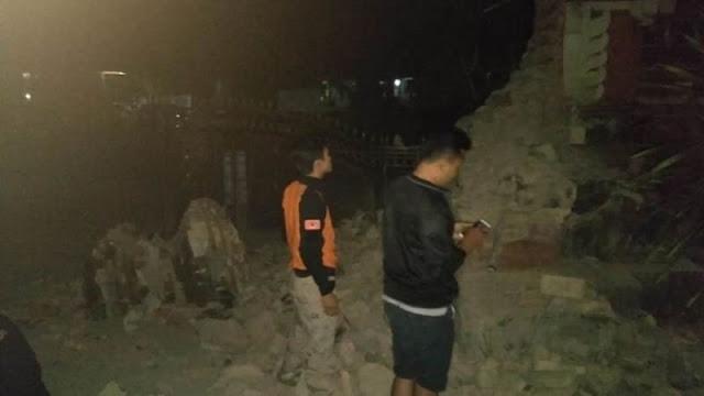 Getaran Gempa Situbondo Hancurkan Rumah-rumah di Jembrana, Bali