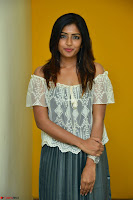 Eesha in a cute deep neck top and Skirt at at Big FM 110.JPG