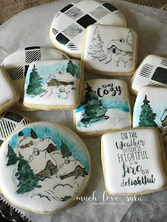 Creating amazing Christmas cookies is so easy, using paper crafting items!  Stamp or stencil on the royal icing to create intricate patterns, and adorable images that are sure to wow your neighbors this year.  These cookies are also easy and fun for DIY weddings, or parties. #fsjallday #fsjJourneyHolidays
