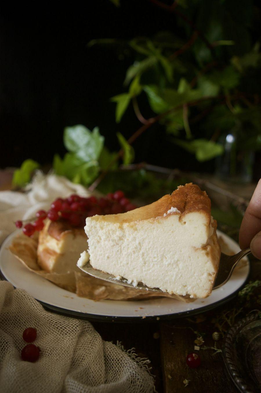 Tarta de queso tipo La Viña