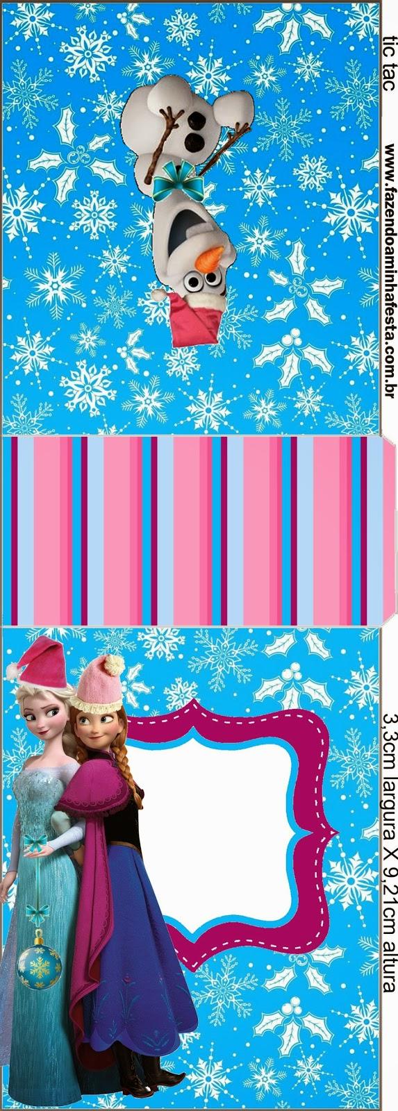 Etiquetas para Tic Tac para imprimir gratis de Frozen para Navidad.