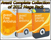 Download Software Avast! Antivirus Complete Collection of 2012 Mega Pack (Nov 2012) + Key