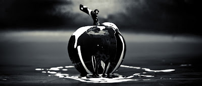 blackened apple