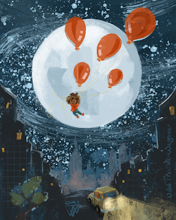 Balloon Lift Off Series of paintings by Traci Van Wagoner