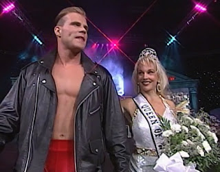 WCW Halloween Havoc 1997 - Debra McMichael led Alex Wright into battle against Mongo