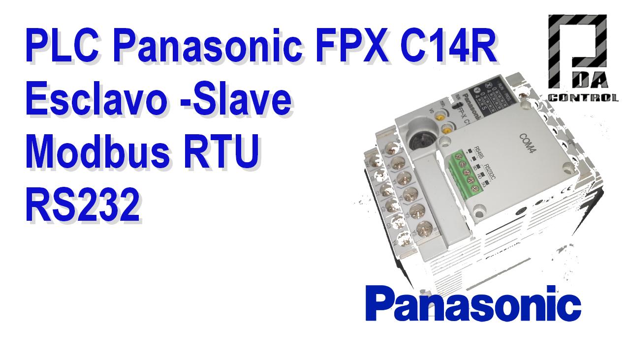 Industrial - PLC FPX C14R Panasonic - Slave Modbus RTU RS232