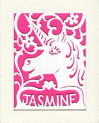 Picture of a paper cut unicorn