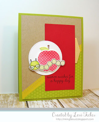 Worm Wishes card-designed by Lori Tecler/Inking Aloud-stamps from Reverse Confetti