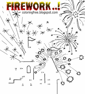 November and December time childrens fun simple bonfire night drawing firework colouring in activity
